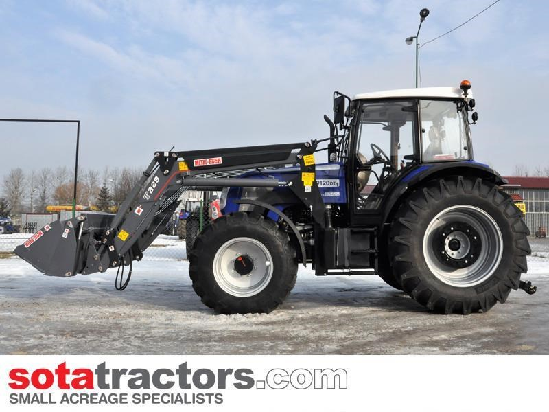farmtrac 110hp cab tractor + 4 in 1 loader + backhoe 646221 045