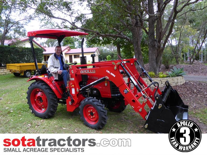 apollo 25hp tractor + 4 in 1 loader + backhoe 646224 029