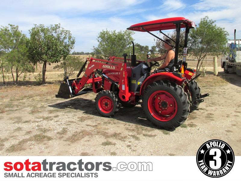 apollo 25hp tractor + 4 in 1 loader + backhoe 646224 033