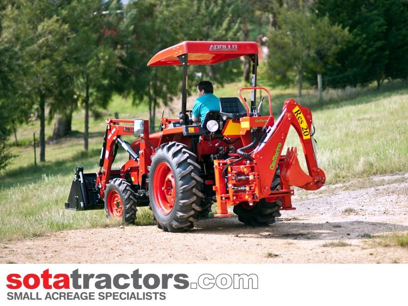 apollo 35hp tractor + 4 in 1 loader + backhoe 646229 053