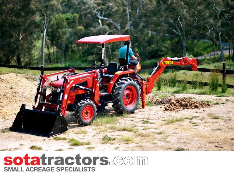 apollo 35hp tractor + 4 in 1 loader + backhoe 646229 055