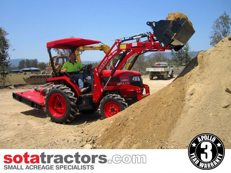 apollo 35hp tractor + 4 in 1 loader + backhoe 646247 005