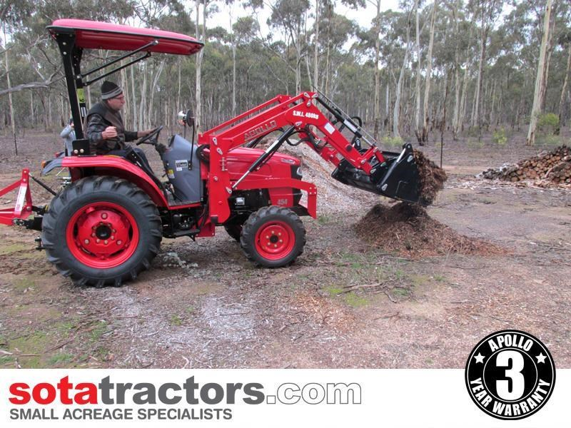 apollo 45hp tractor + 4 in 1 loader + backhoe 646460 009