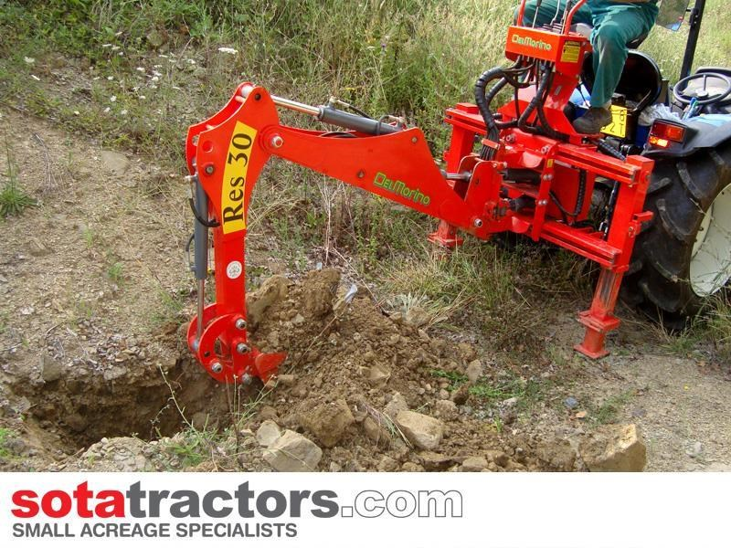 apollo 45hp tractor + 4 in 1 loader + backhoe 646460 033