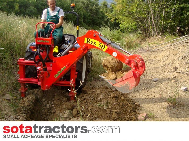 apollo 55hp tractor + 4 in 1 loader + backhoe 646442 035