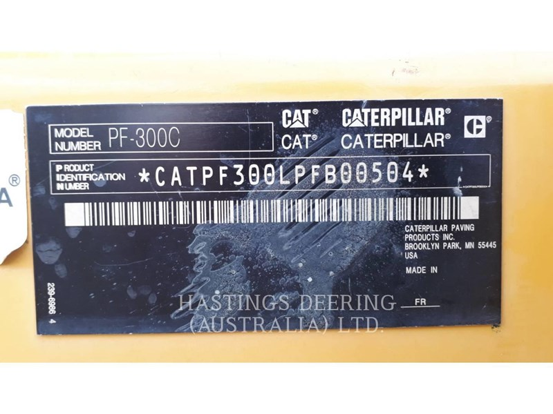 caterpillar pf-300c 637549 033