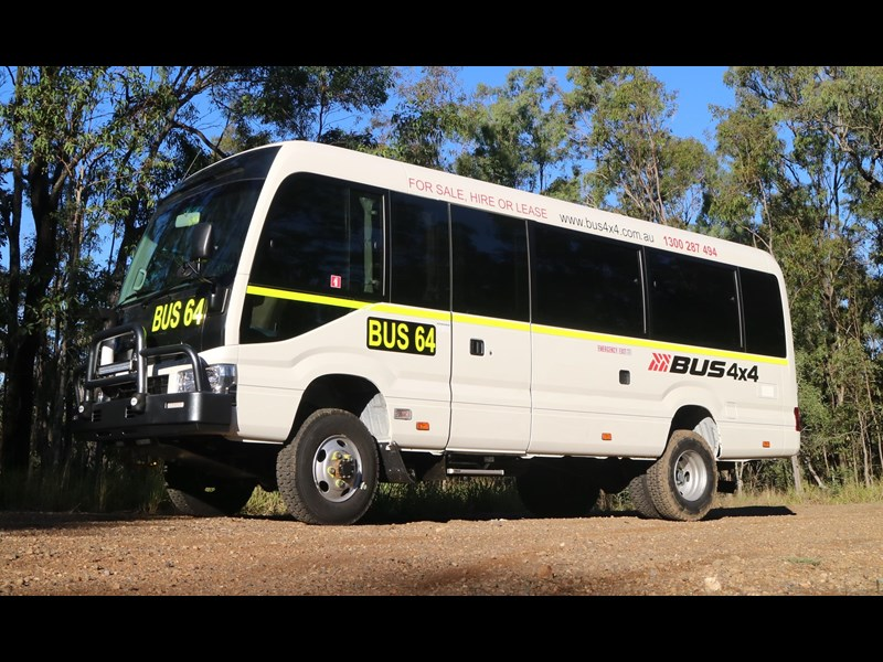 toyota bus 4x4 conversion of 70 series toyota coaster - mine specification 650919 001