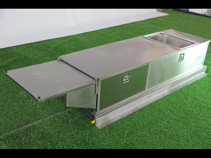 kylin campers stainess steel slide out kitchen 460839 003