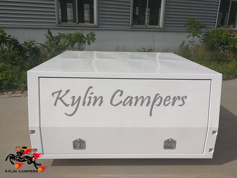 kylin campers dual cab jack off white powder coated alloy canopy, aluminium canopy, ute canopy  no back door - 1800x1800x860mm 511361 005