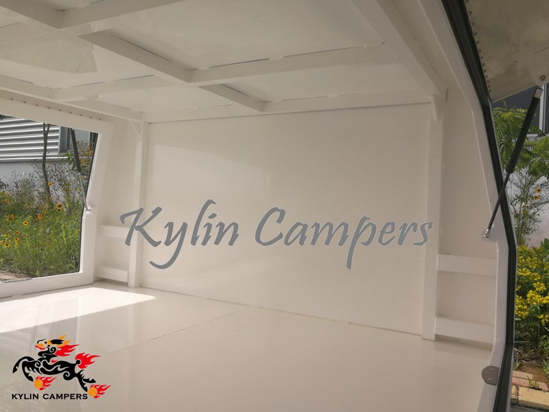 kylin campers dual cab jack off white powder coated alloy canopy, aluminium canopy, ute canopy  no back door - 1800x1800x860mm 511361 013