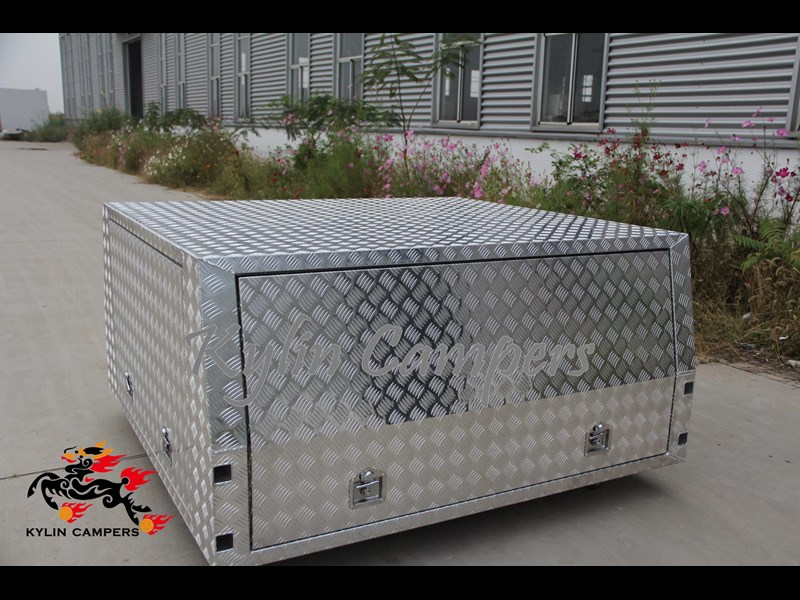 kylin campers dual cab jack off alloy checker plate canopy, aluminium canopy, ute canopy   - 1800x1800x860mm 470122 007