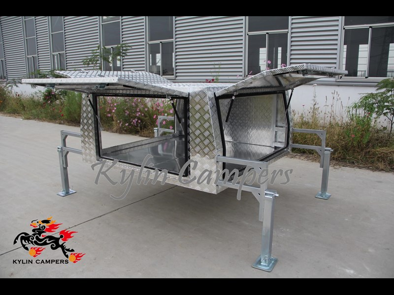 kylin campers dual cab jack off alloy checker plate canopy, aluminium canopy, ute canopy   - 1800x1800x860mm 470122 009