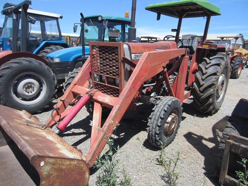 massey ferguson 265 tractor with front end loader 652290 009