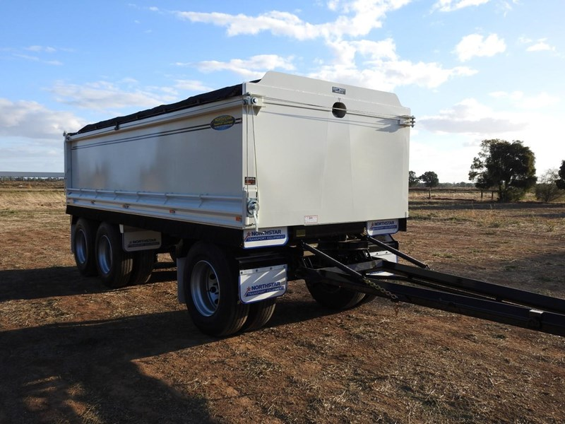 northstar transport equipment new 2019 north star tri axle tipping dog trailer 680566 009