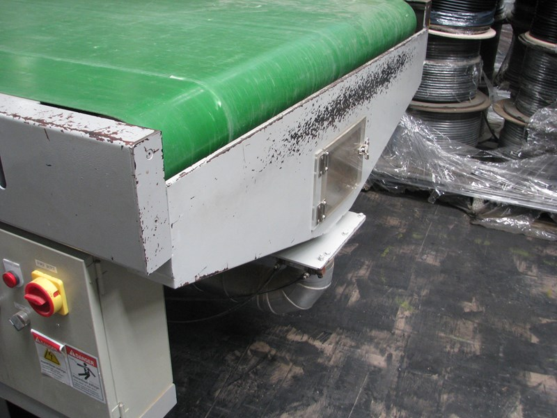 woodtron large cnc motorised belt conveyor sheet material feed and takeoff - 4m long 683900 005