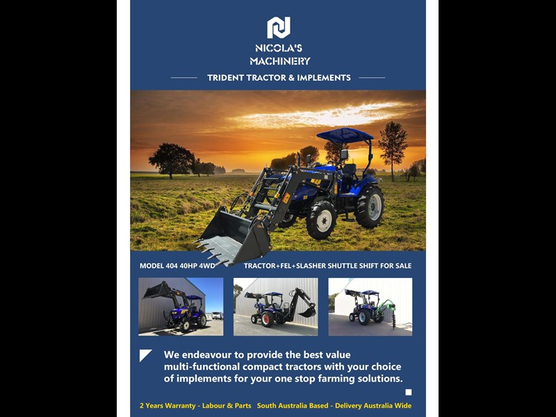 trident brand new 40hp tractor 4wd+fel+slasher shuttle shift 512366 175