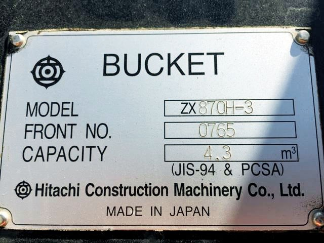 hitachi zx870 bucket 688671 003