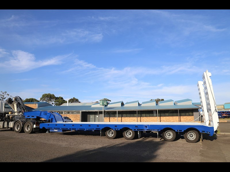 aaa quad axle low loader widener with bi-ford ramps 684540 011