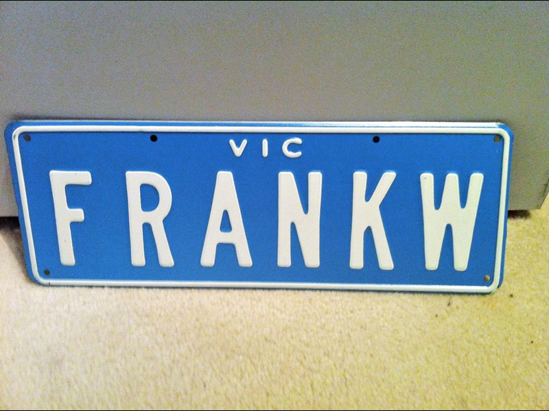 number plates 'adamk' or 'frankw' or 'colinw' or 'hertz' etc 695005 007