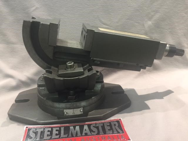 steelmaster industrial 3 axis precision machine vice - 75mm jaw width. 701630 001