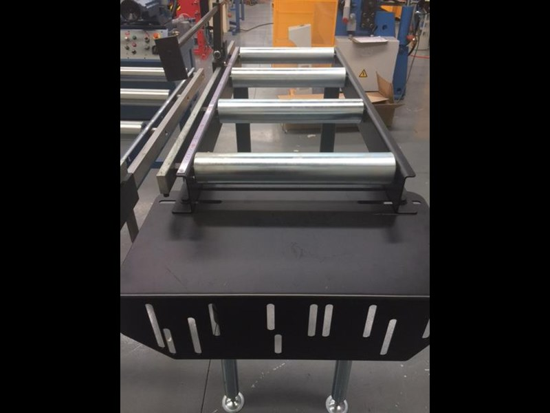 steelmaster calibrated length stop roller conveyor kit, 350mm x 1000mm linear measuring system & flip up length 701934 015