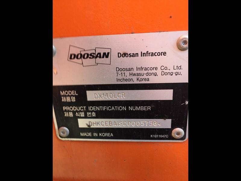doosan dx140lcr - excellent condition - low hours! 703003 043