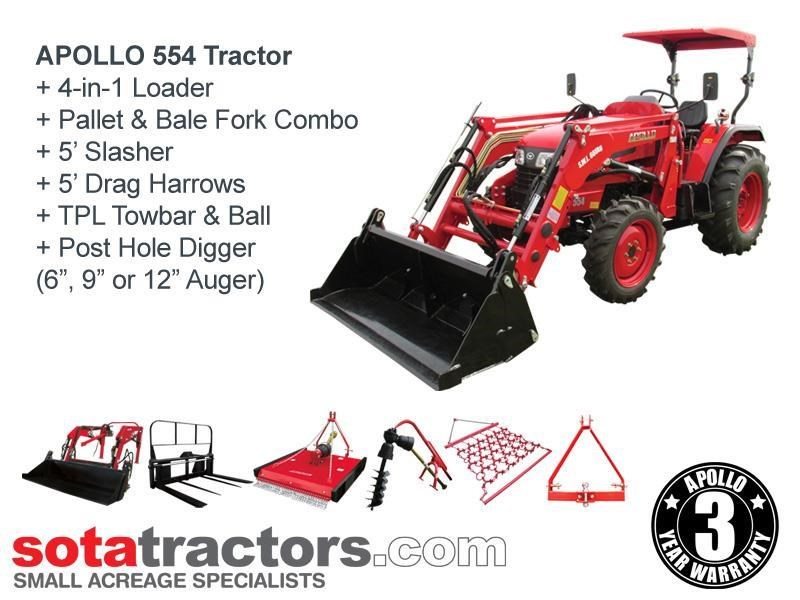 apollo 55hp tractor - equestrian package 707050 001