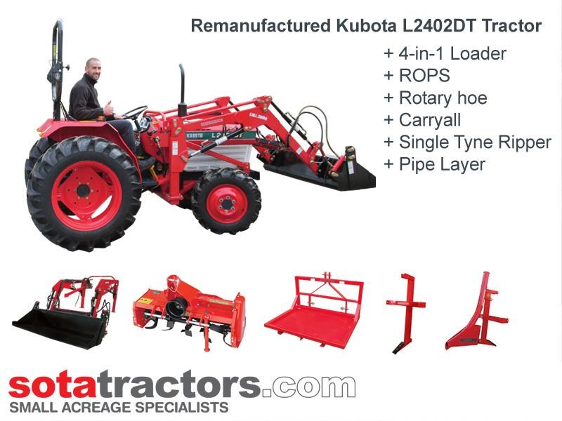 kubota l2402dt tractor - horticultural package 707117 001