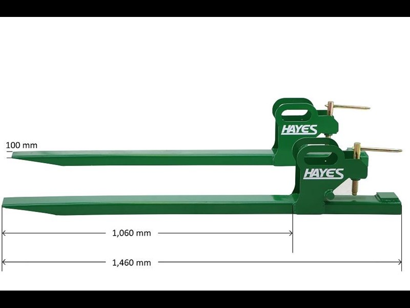 HAYES TRACTOR CLAMP ON BUCKET FORKS 1350KG - FRONT END