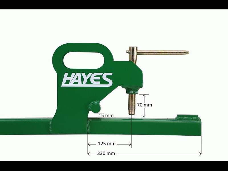 hayes tractor clamp on bucket forks 900kg - front end loader/bobcat tine 467970 005