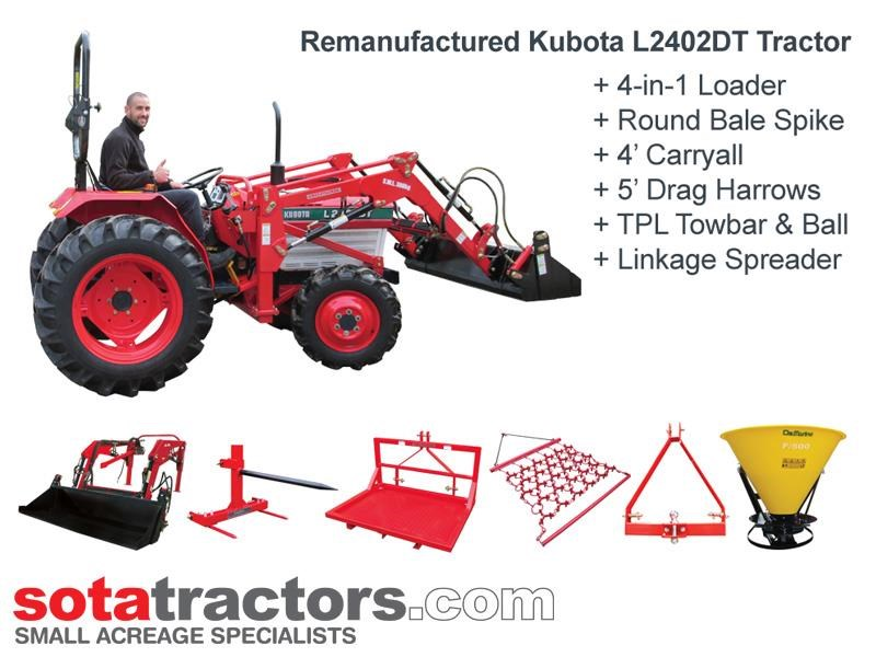 kubota l2402dt tractor - equestrian package 710814 001