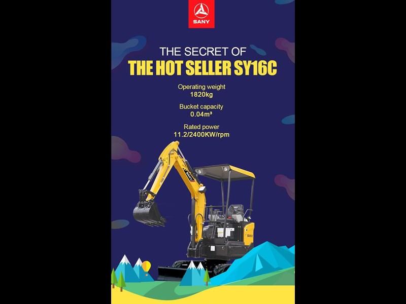2019 SANY SY16C Mini Excavator SY16C for sale