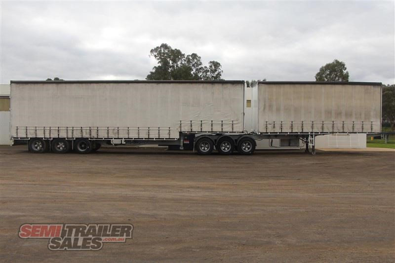 maxitrans 34 pallet drop deck curtainsider b double set with mezz decks 717983 001