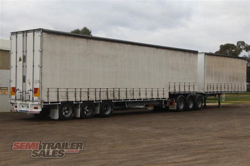 maxitrans 34 pallet drop deck curtainsider b double set with mezz decks 717983 009