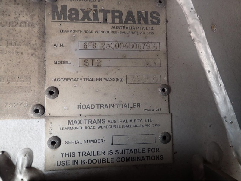 maxitrans curtainsider trailer 688610 037