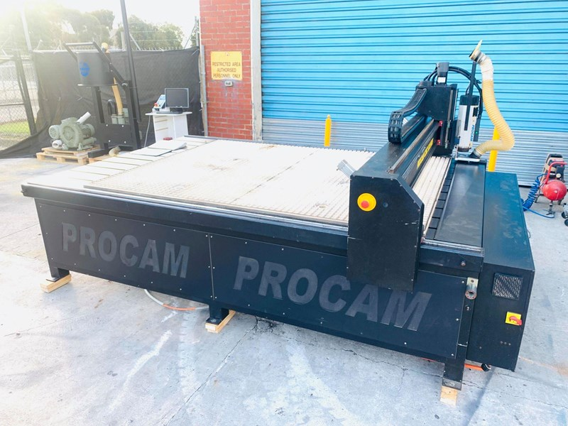 procam cnc router machine with auto tool change and vacuum table - 2.4m x 1.8m 721644 003
