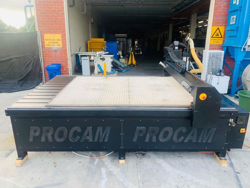 procam cnc router machine with auto tool change and vacuum table - 2.4m x 1.8m 721644 013