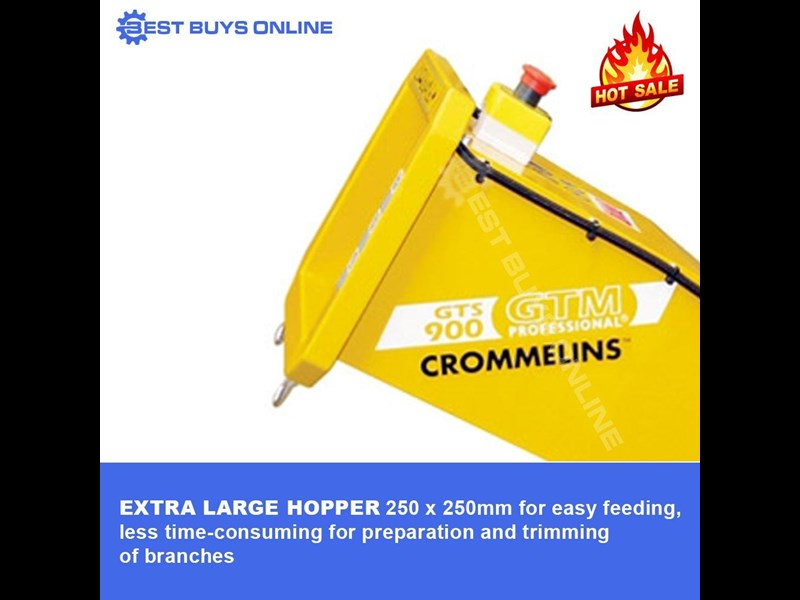 crommelins portable wood chipper 9 hp robin subaru  gts900s 723034 007