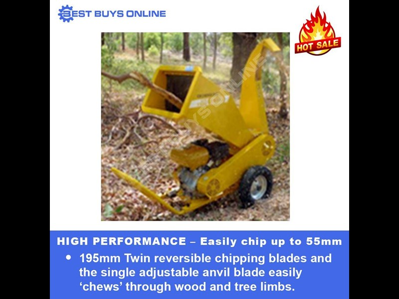 crommelins portable wood chipper 9 hp robin subaru  gts900s 723034 003