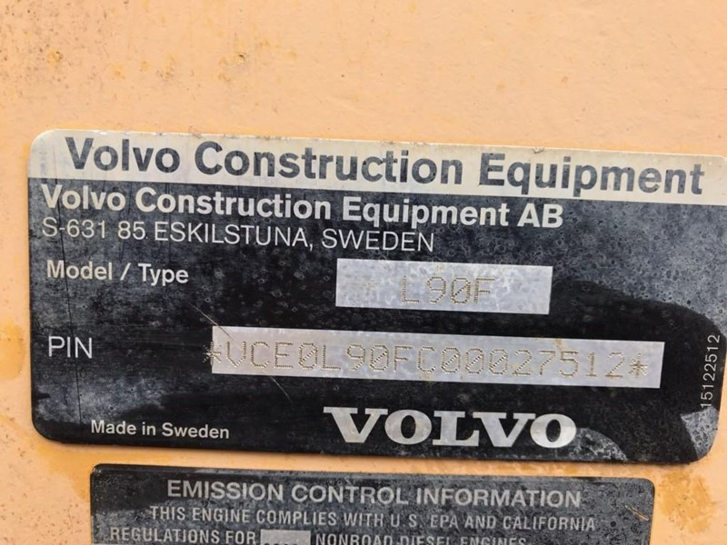 volvo volvo l90f wheel loader 726761 011