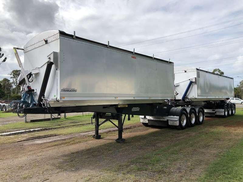 graham lusty trailers b-double aluminium side tippers 732294 009