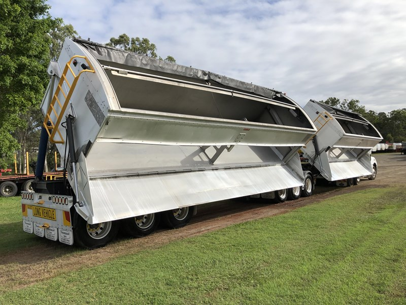 graham lusty trailers b-double aluminium side tippers 732294 077