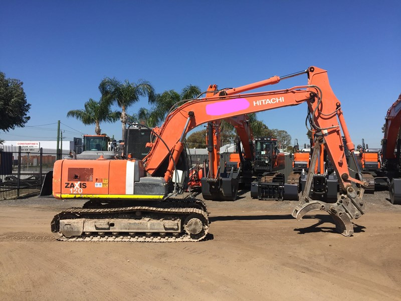 hitachi zx120 - low hours - grab - gp bucket 735919 001