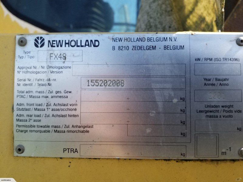 new holland fx48 743695 007
