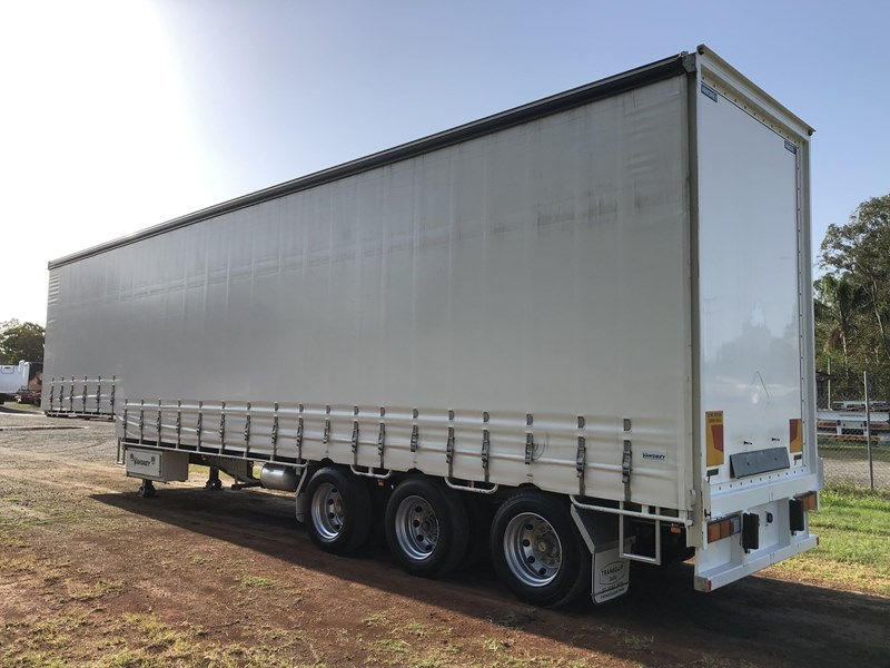 vawdrey 45ft tri-axle drop deck tautliner mezz floors 744806 007