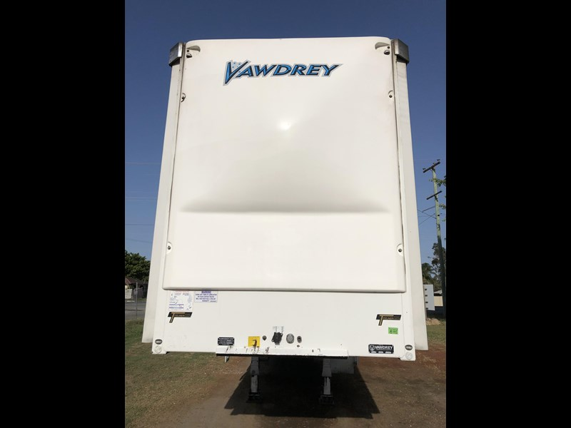 vawdrey 45ft tri-axle drop deck tautliner mezz floors 744806 011
