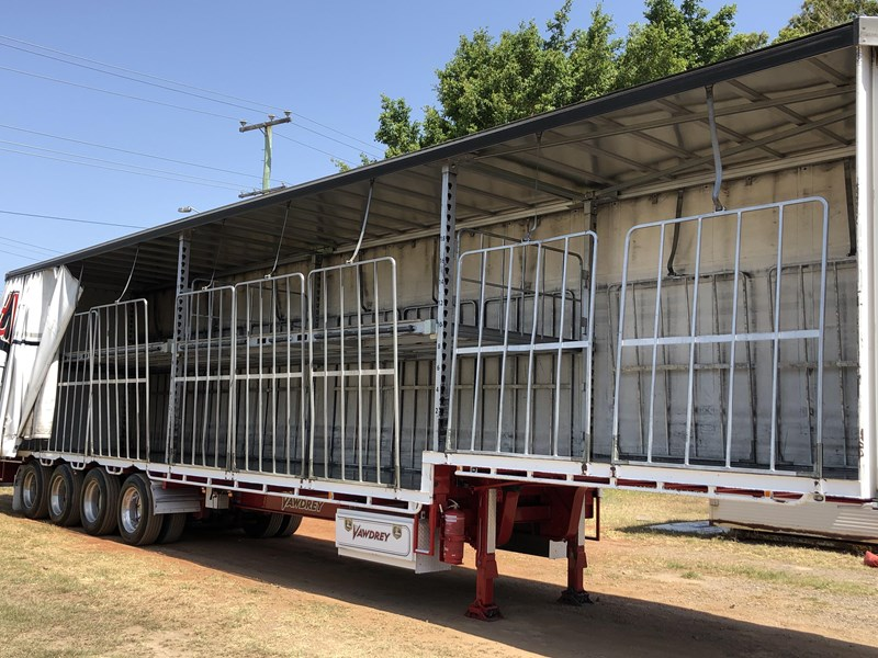 vawdrey 48ft drop deck quad axle curtainsider with mezz decks 754523 013
