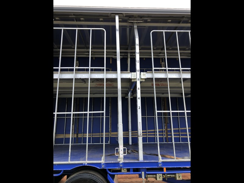 vawdrey 48ft drop deck curtainsider semi trailer with mezz decks 757274 057