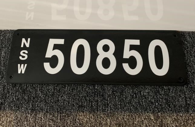 number plates 50850 779334 001
