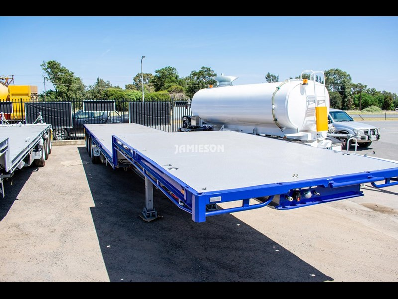 jamieson drop deck trailer - tri-axle - road train rated - 13.7m 45' 15597 005